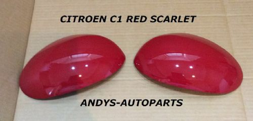 CITROEN C1 05 - 13 PAIR OF WING MIRROR COVERS BOTH L/H OR R/H IN RED SCARLET